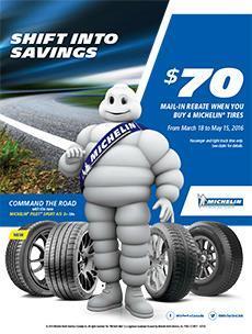 2016 Michelin Spring Rebate