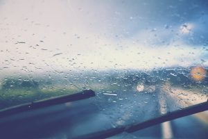 Rain on a Drive in Spring