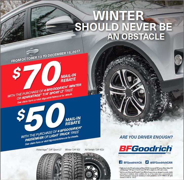 BFGoodrich Winter 2017 Rebate
