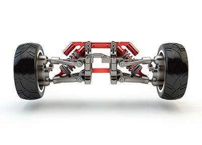 Image of a vehicle's suspension, which could be repaired by Active Green + Ross in Toronto, ON