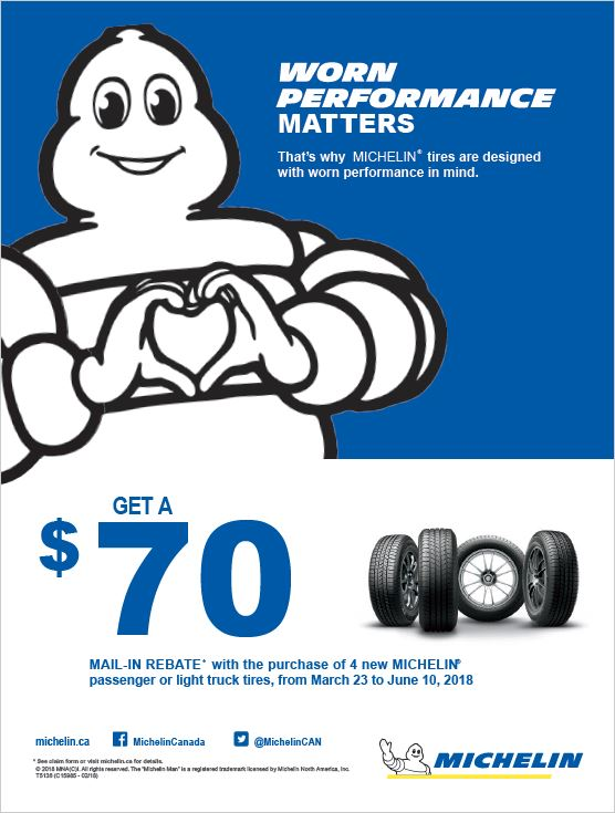 Michelin Spring 2018 Rebate