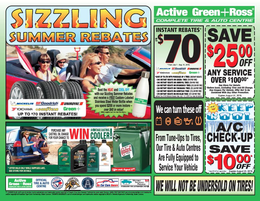 Sizzling Summer Rebates