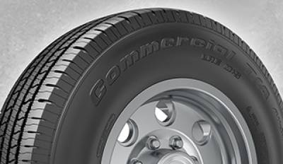 Image of a BFGoodrich 115/ Commercial T/A A/S2 tire, which can be found at Active Green + Ross in Toronto, ON