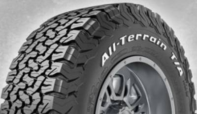 Image of a LRC 100/97S All-Terrain T/A KO2 tire, which can be found at Active Green + Ross in Toronto, ON