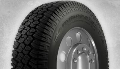 Image of a BFGoodrich COMMERCIAL T/A TRACTION  LRD 110/107Q BW tire, which can be found at Active Green + Ross in Toronto, ON