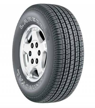 Image of a Uniroyal Laredo Cross Country tire, which can be found at Active Green + Ross in Toronto, ON