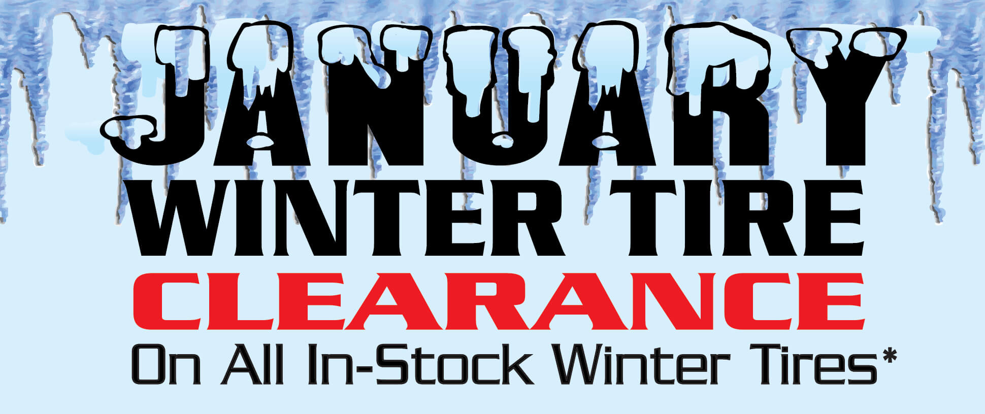 Winter Tire Clearance Sale