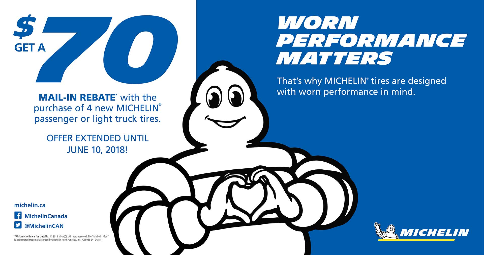 Spring Michelin Tire Sale at Active Green + Ross